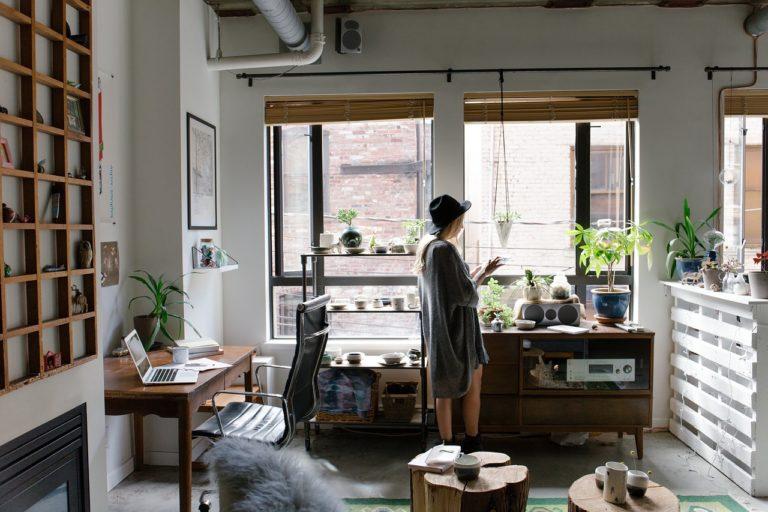 חדר מעוצב וצומח